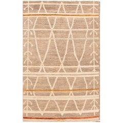 21st Century Modern Brown Moroccan Rug