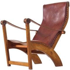 Mogens Voltelen Copenhagen Chair in Mahogany and Original Cognac Leather