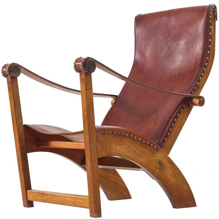 Mogens Voltelen Copenhagen Chair in Mahogany and Original Cognac Leather 1