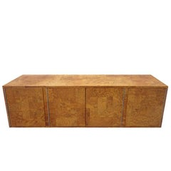 Paul Evans Burled Patchwork Cityscape Credenza Directional