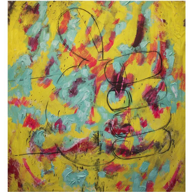 "Large Modern Painting ""California Hip"" by Eric Stefanski"