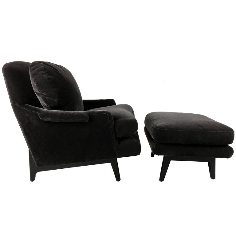 Classic Dunbar Lounge Chair and Ottoman For Sale