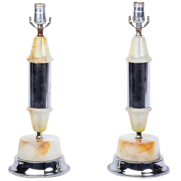 Handsome Pair of 1930s Table Lamps
