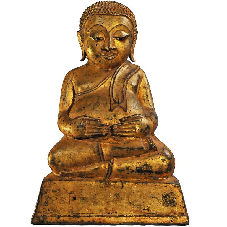 Late 16th Century, Gilt Bronze Pu-Tai 'Laughing Buddha', Burma