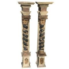 Pair of 17th-18th Century Italian Baroque Columns