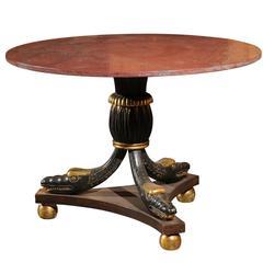 20th Century Italian Parcel Gilt Center Table