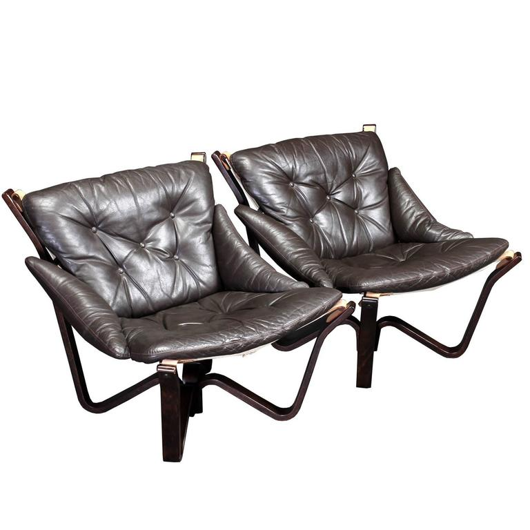 Spider Lounge Chairs by Sigurd Resell in Brown Leather For Sale  sc 1 st  1stDibs & Spider Lounge Chairs by Sigurd Resell in Brown Leather at 1stdibs