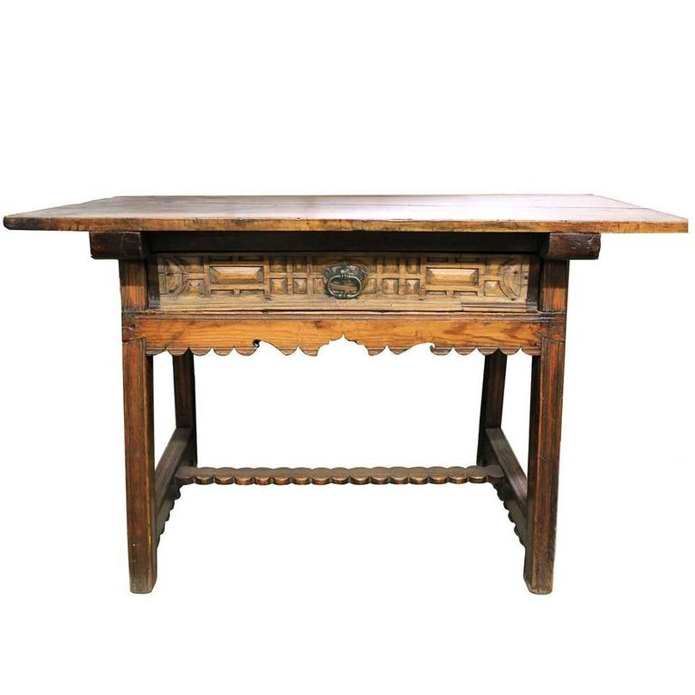 17th Century Spanish Walnut and Oak Trestle Table 1