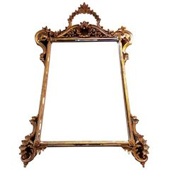 Gorgeous Ornate Giltwood Mirror by Labarge