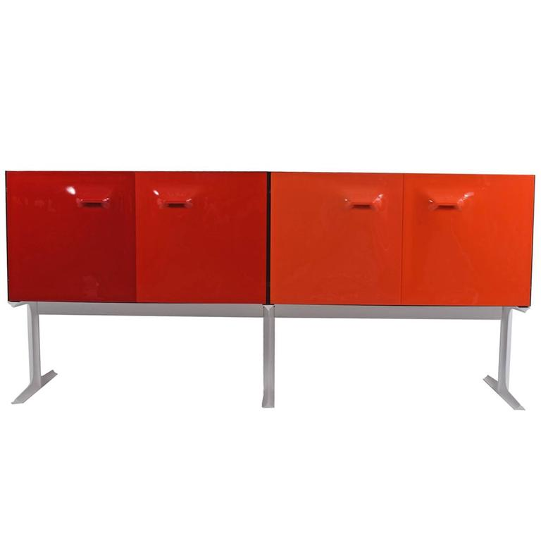 Two Sided Raymond Loewy Bar Cabinet DF 2000 For Sale