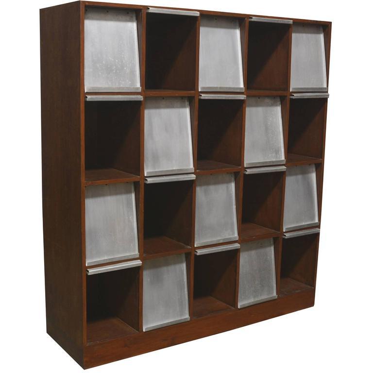 Pierre Jeanneret Very Rare Newspaper Bookcase 1