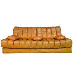 Vintage Swiss De Sede Ds 85 Daybed and Sofa and Loveseat, 1960s