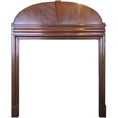 Antique Art Deco, 1930s Mahogany Wood Mantel Fireplace Surround