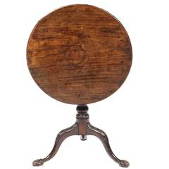 19th Century George III Occasional Tilt-Top Table
