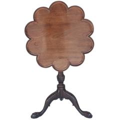 18th Century George III Mahogany Petal Tripod Wine Table