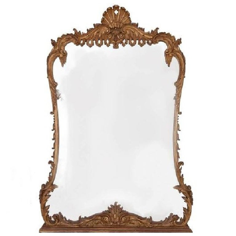 19th Century Gilt Carved Wood Mirror