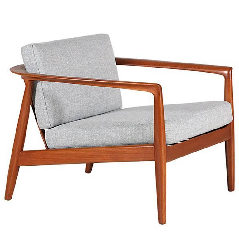 Ordinaire Folke Olhsson Model 72 Carat Teak Lounge Chairs For Dux For Sale