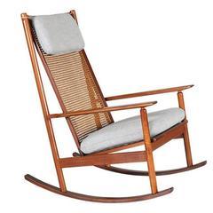 Hans Olsen Model 532-A Teak Rocking Chair for Juul Kristensen