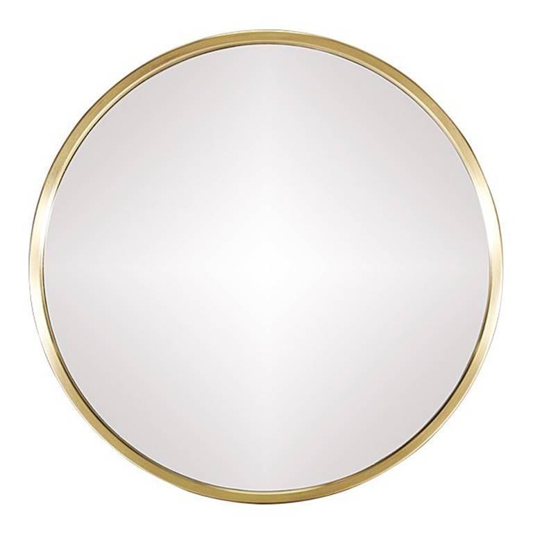 Swedish Minimalist Brass Mirror By Glasm Ster At 1stdibs