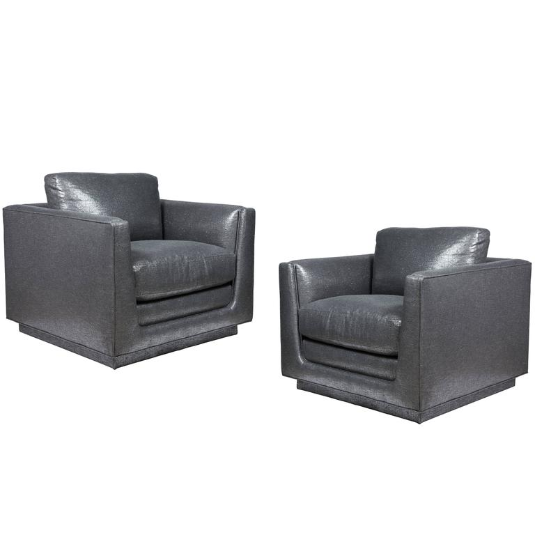 Pair of Club Chairs Designed by Arthur Elrod