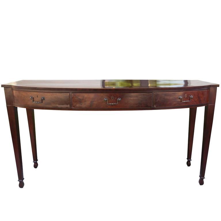English Mahogany Serving Table, circa 1820