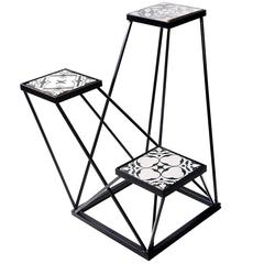 Trio Black and White Ensemble Pedestal
