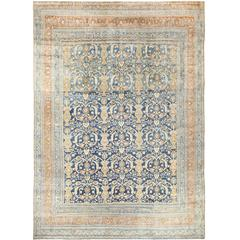 Light Blue Antique Persian Khorassan Rug