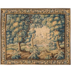 Antique Flemish Verdure Tapestry, 17th Century