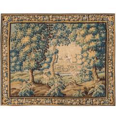 Antique Flemish Verdure Tapestry, 17th Century