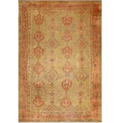 Oversized Tribal  Antique Turkish Oushak Rug