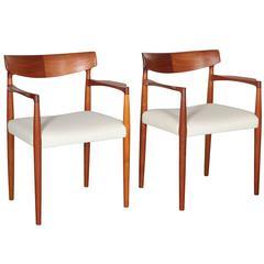 Danish Modern Armchairs, Pair