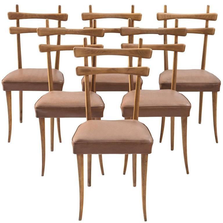 Italian Dining Chairs in Oak 1