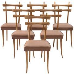 Italian Dining Chairs in Oak