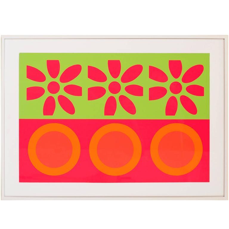 Peter Gee Target and Daisies Silkscreen Pop Art
