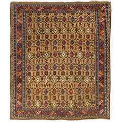Antique Caucasian Shirvan Rug, Rare Yellow Ground, very good condition.