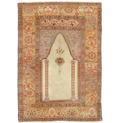 Antique Ottoman Ghiordes Prayer Rug