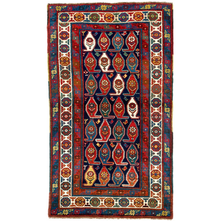 Colorful caucasian gendje rug for sale at 1stdibs for Colorful rugs for sale