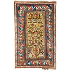 Antique Caucasian Kazak Prayer Rug