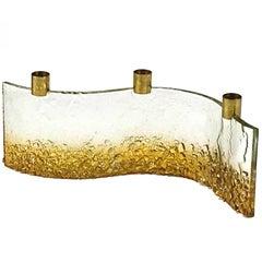 Italian Glass Candleholder, 1960