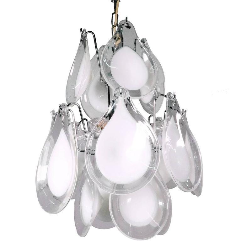 Murano Glass Petals Chandelier by Gino Vistosi for Venini, 1960s