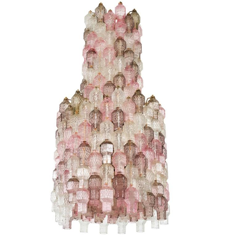 Chandelier by Archimede Seguso, Seguso Murano, Italy, circa 1958 For Sale