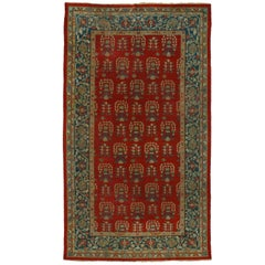 Antique Indian Agra Rug with Modern English Tudor Style Style