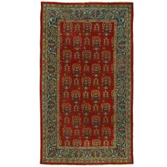 Antique Indian Agra Rug with Modern Traditional Style, Gallery Rug