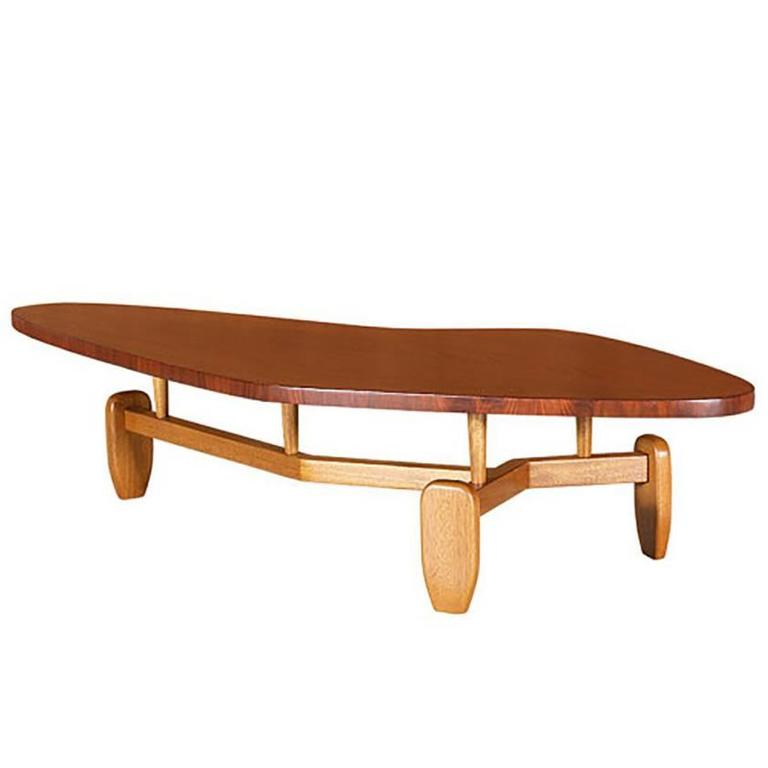 """John Keal """"Outrigger"""" Floating Top Coffee Table for Brown Saltman"""