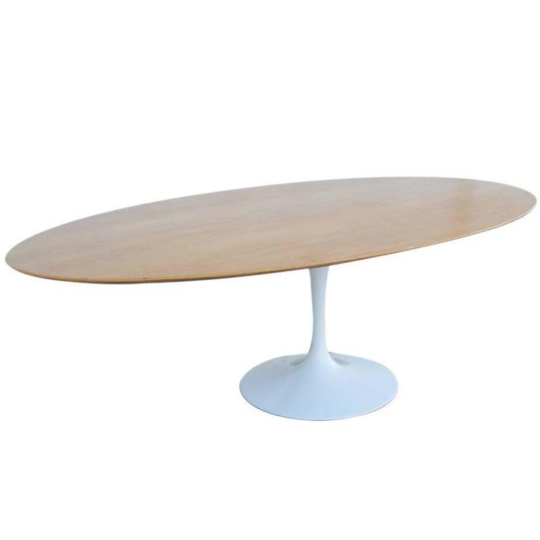 Saarinen Knoll Oak Top Tulip Base At Stdibs - Saarinen table base for sale