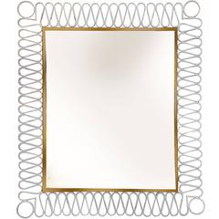 Jacques Adnet Style Mirror