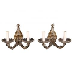 Pair of Venetian Glass Wall Sconces