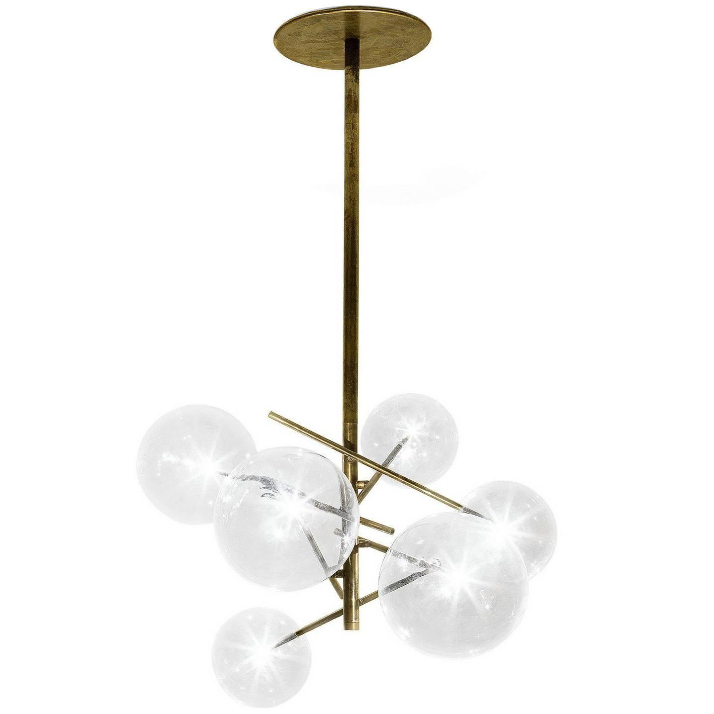 Gallotti and Radice Bolle 6 Sphere Suspension Lamp in Glass and ...