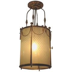 19th Century Brass Lantern