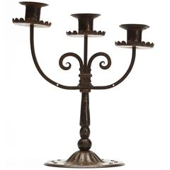 Viennese Secessionist Hugo Berger Candlestick, circa 1900